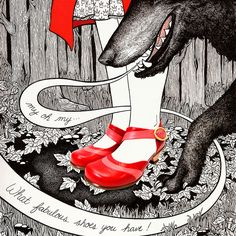 What fabulous red shoes by Samantha Zaza