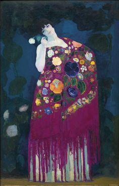 """Woman from Granada"" (Circa 1914) | Hermen Anglada Camarasa | Museu Nacional d'Art de Catalunya"