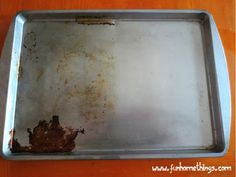 Fun Home Things: Tip of the Week--DIY Pot and Pan Cleaner -Just mix together 2 parts baking soda with 1 part peroxide (it will make a paste) and rub the area with a dish rag until clean.