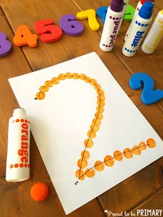 dot numbers to practice formation and building number sense to 20 Learning Numbers for Toddlers Preschool Learning Activities, Preschool At Home, Preschool Crafts, Toddler Activities, Free Activities, 3 Year Old Activities, Crafts For Preschoolers, 3 Year Old Preschool, Nanny Activities