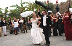 Spring wedding in New Orleans. This is called a second line parade. Tuxedo Wedding, Wedding Tuxedos, Second Line Parade, New Orleans Wedding, Wedding Inspiration, Wedding Ideas, Spring Wedding, Mardi Gras, Big Day