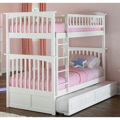 Atlantic Furniture Columbia Bunk Bed with Trundle Bed & Reviews | Wayfair
