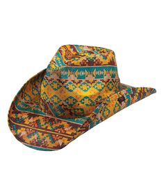 Gold  amp  Teal Geometric Cowboy Hat by Peter Grimm d41611958f51