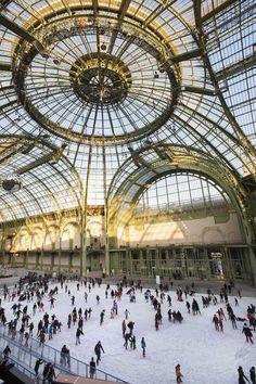 Ice skating at le grand-palais