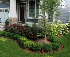33 Amazing Front Garden Landscaping Ideas Fresh Looks - Designing A Front Yard Is Usually About Accessibility And Invitation. We Spend Hardly Any Time In The Front Yard As Opposed To The Backyard, But It Is. Small Front Yard Landscaping, Front Yard Design, Farmhouse Landscaping, Small Backyard Landscaping, Landscaping Tips, Mailbox Landscaping, Acreage Landscaping, Backyard Ideas, Corner Landscaping