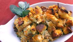 Chicken Apple Sausage Stuffing -- #GlutenFree #DairyFree