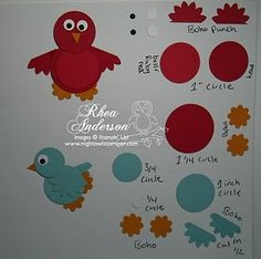 Lovely ideas for Stampin´Up punches