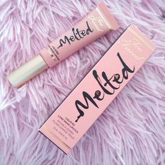56 ideas makeup products too faced melted lipstick Kiss Makeup, Cute Makeup, Makeup Stuff, Makeup Ideas, Pretty Makeup, All Things Beauty, Beauty Make Up, Too Faced Melted Lipstick, Long Wear Lipstick