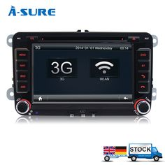 "A-Sure 7"" Car Radio Stereo SatNav Bluetooth USB OPS DVD GPS for VW Golf MK5 MK6 SKODA Passat Touran Tiguan Jetta"