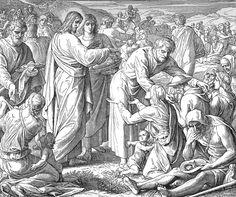 Bilder der Bibel - Wundersame Speisung - Julius Schnorr von Carolsfeld