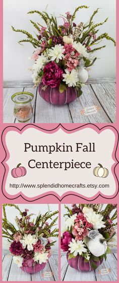 44 Super Ideas For Wedding Centerpieces Diy Fall Etsy Pumpkin Table Decorations, Pumpkin Centerpieces, Harvest Decorations, Seasonal Decor, Wedding Centerpieces, Wedding Table, Fall Decor, Wedding Decorations, Diy Wedding