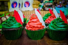 Cupcakes at a Peter Pan birthday party! See more party ideas at CatchMyParty.com!