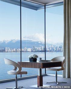 Dude. Elegant Vancouver view.