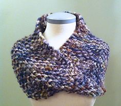 slouch cowl at ravelry-this pattern is knitted. Crochet flat 10 x 28 in, twist, seam