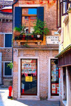 Street Corner in Venice, Italy