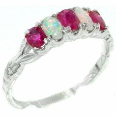 Solid English Sterling Silver Natural Ruby