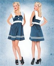 Folter Clothing Sail Away Nautical Sailor Doll Dress with Middy Back