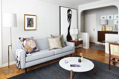 See more images from before & after: making 600 square feet feel like PLENTY of space on domino.com