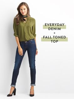 them 365. To give your denim a fall spin, slip into an autumnal-hued top in…