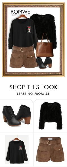 """""""Romwe.com contest! - Win this black hand and rose t-shirt!"""" by blueviolette ❤ liked on Polyvore featuring Frame Denim and SOREL"""