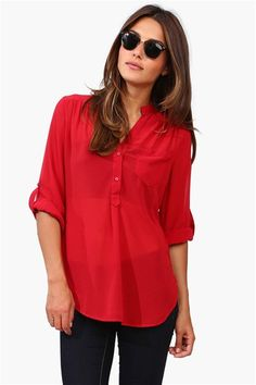 Mira Blouse in Cougar Red | #UHGameDay
