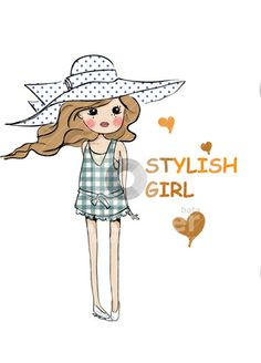 Style cute illustration girl