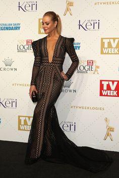 Jessica Marais.. J'Aton Couture gown..
