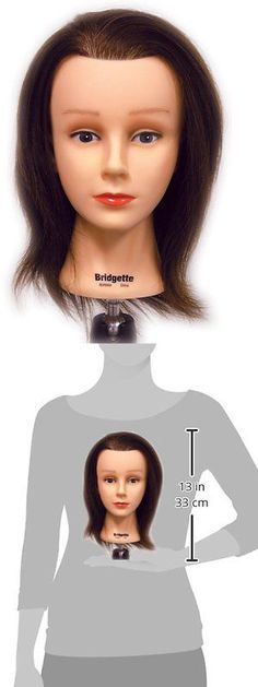 Hair Ties and Styling Accs: Celebrity Bridgette Budget Cosmetology Human Hair Manikin, 16-17 Inch BUY IT NOW ONLY: $36.21