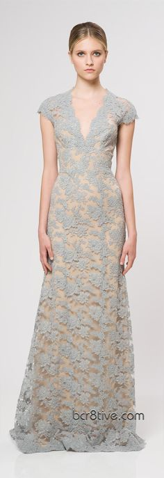 Awesome lace idea for a #wedding #dress! Reem Acra Ready To Wear Resort 2013