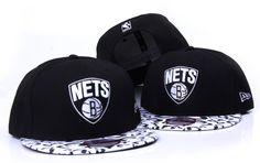 NBA Brooklyn Nets New Era Snapback Hats snakeskin Black 032 8007 $7.90