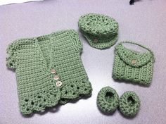Crocheted American Girl Outfit