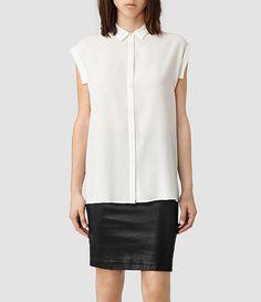 Womens Artesia Shirt (Chalk) - product_image_alt_text_1