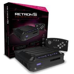 Console Retron 5 GBA + SNES + NES + Genesis + Famicom noire Hyperkin http://www.amazon.fr/dp/B00DZIX3CQ/ref=cm_sw_r_pi_dp_5FFtwb14B7NEK