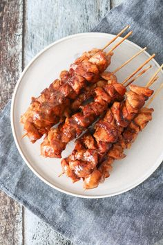 Honey Marinated Chicken skewers - Chicken With Honey - Grillen Styla Chicken Skewers, Marinated Chicken, Food N, Food And Drink, Bbq Food, Tapas, Easy Food To Make, Easy Cooking, Grilling Recipes