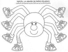 Gratis Kleurplaten Spinnen.18 Geweldige Afbeeldingen Over Herfst Spinnen Kleurplaten