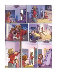 """una pagina del fumetto francese """" Lulu e Fred """" Colori: Mariacristina Federico disegni: Cécile Brosseau sceneggiatura: J.J. Taylor / Robin N. édition : Le Lombar"""