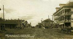 Main street facing south Aurora, Oregon pre-1930