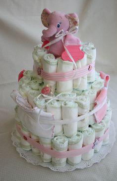 Mamás Todoterreno: Diaper cake - Tarta de pañales
