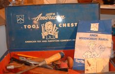 Vintage American Toy Furniture Company Tool Chest Tools Instructions