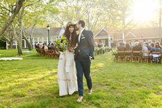The groom wore a bespoke suit by Billy Reid.