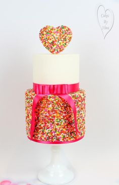 Sprinkles of love  - Cake by CakesbyNinaCalverley