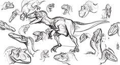 sketch dinos by marciolcastro on DeviantArt