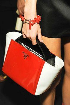 #Prada Spring 2013 #Details #Bags #fashionhandbags