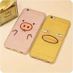 For iphone 6 6s plus 5s 5 Case Brushed Silicon Phone Cases Full Protection Yellow Duck Pink Pig For Lovers 2016 Free Shipping,High Quality phone case,China case Suppliers, Cheap case from Jelly Beans' case shop on Aliexpress.com Iphone 6 Cases, Cute Phone Cases, Clean Web Design, Jelly Case, Best Cell Phone, Silicone Phone Case, Jelly Beans, Telephone, Pigs