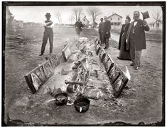 Planked Shad. Barbecue at Marshall Hall, Maryland, in 1893