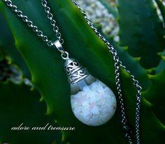 Floating Opal Necklace adoreandtreasure....