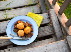 Slow-cooked Goat Stew with Beery Dumplings - Sarah Graham Food Graham Recipe, Sarah Graham, Stew And Dumplings, Beer Chicken, Goat Meat, Fresh Thyme, Party Snacks, Chutney, Cooking Time
