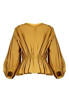 Puff-sleeved cropped cotton-poplin blouse | Sonia Rykiel | MATCHESFASHION.COM US