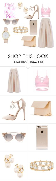 """pink"" by mirela-r13 on Polyvore featuring Charlotte Russe, Iala Díez, Incase, Anne Klein, Lele Sadoughi and Kate Spade"
