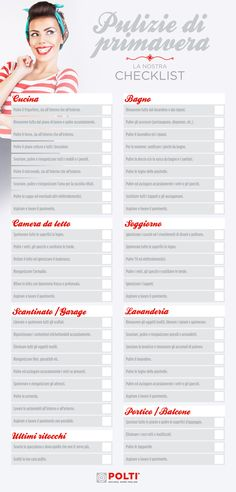 Scarica gratis la nostra checklist per le #pulizie di #primavera. Cleaning Checklist, Cleaning Hacks, Agenda Planning, Grand Menage, Home Binder, Ideas Para Organizar, Flylady, Home Organisation, Desperate Housewives